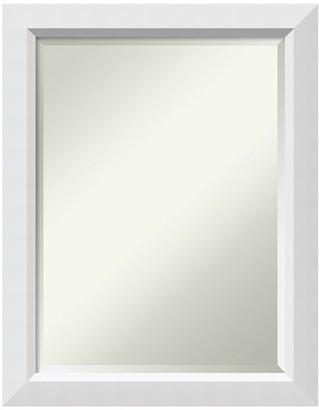 "Amanti Art Bathroom Mirror, Fits Standard 24 to 30 Cabinet, Blanco White, 22""x28"""
