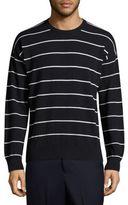 Ami Striped Crewneck Sweatshirt