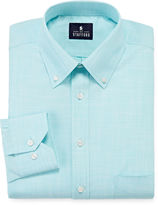 STAFFORD Stafford Long-Sleeve Broadcloth Linen Look Dress Shirt