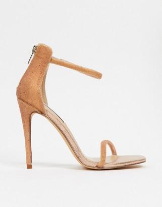 Steve Madden Rapture strappy heeled sandal in rose gold