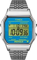 Timex Unisex Quartz Watch with LCD Dial Digital Display and Silver Stainless Steel Bracelet TW2P65200
