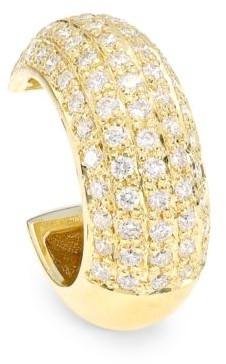 Zoë Chicco 14K Yellow Gold & Diamond Pave Single Ear Thick Cuff