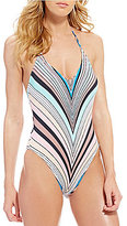 Bikini Lab Stripe Up Your Life Hlater Strappy Back One Piece