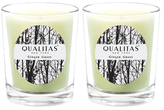 Qualitas Candles Ginger Grass Beeswax Candles (Set of 2) (6.5 OZ)