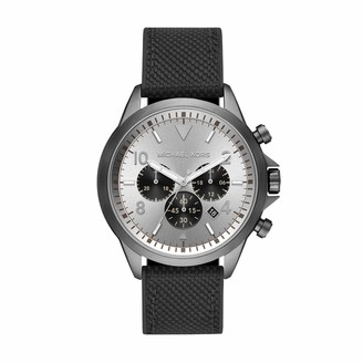 Michael Kors Men's Stainless Steel Quartz Watch with Nylon Strap