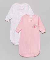 SpaSilk Pink & White Flowers Sleeping Sack Set - Infant