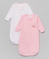 SpaSilk Pink & White Flowers Sleeping Sack Set