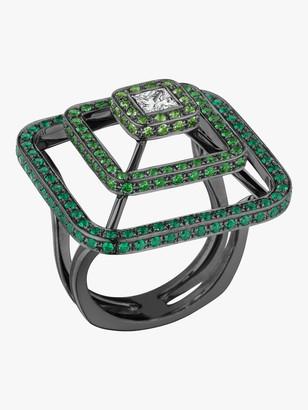 Mimi So Piece Pyramid Tsavorite Ring