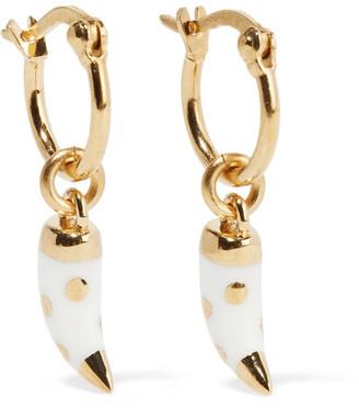 Caftan Moon Gold-tone Bakelite Earrings