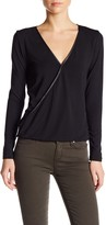 Tart Charlize Faux Leather Trim Blouse