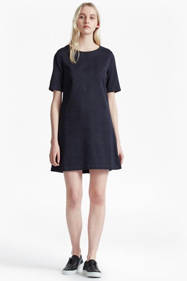 French Connection Animal Denim Jacquard T-Shirt Dress