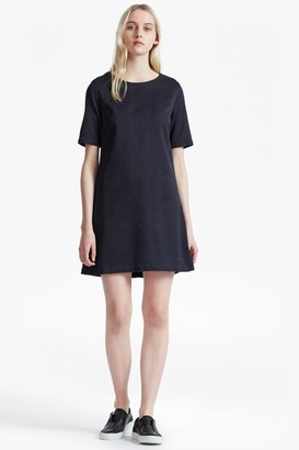 French Connection Animal Denim Jacquard T-Shirt Dress