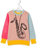 Stella McCartney saxophone print Lucky jumper