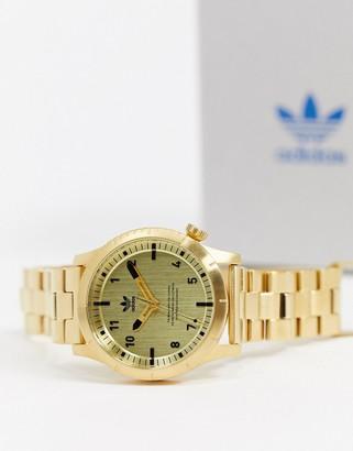 adidas Cypher M1 bracelet watch in gold