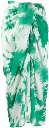 Alanui Pareo tie-dye wrap skirt