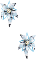Alexis Bittar Lucite Abstract Screw Studded Flower Stud Earrings