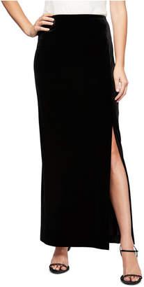 Alex Evenings Slit-Hem Skirt