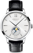 Montblanc Meistertuck Heritage Moonphase Watch with Black strap, 39mm