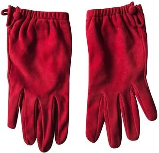 Prada Red Suede Gloves