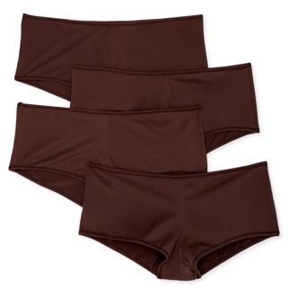 Undies.com Women's Classic Microfiber Boyshort Panties, 4-Pack