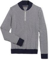 Sean John Men's Herringbone Half-Zip Sweater
