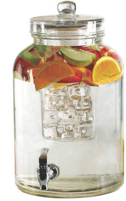 Circle Glass Brington 2.64 Gal/ 9L Beverage Dispenser with Ice Insert and Fuit Infuser