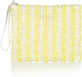 Christopher Kane Ruffled silk and PVC clutch