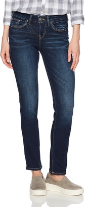 Silver Jeans Women's Avery Curvy Fit High-Rise Straight Leg Jeans