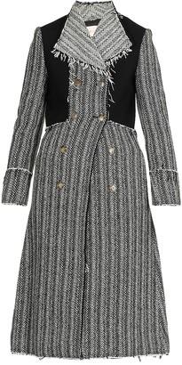 Tory Burch Herringbone Double Breasted Coat
