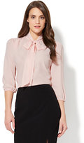 New York & Co. 7th Avenue - Modern - Tie-Front Bow Blouse