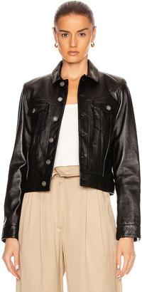 Saint Laurent Leather Jacket in Black   FWRD