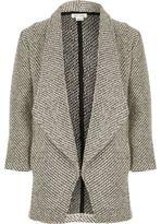 River Island Girls grey knit waterfall blazer