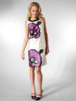 Painted Flower Sheath Dress in Violet