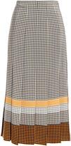 Thumbnail for your product : Joseph Pleated Printed Silk Crepe De Chine Midi Skirt