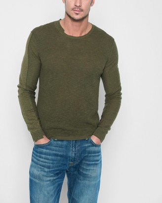7 For All Mankind Start and Stop Sweater in Army