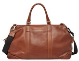 Fossil Men's 'Mayfair' Leather Duffel Bag - Brown