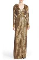 Diane von Furstenberg 'Ariel Armour' Sequin Wrap Gown