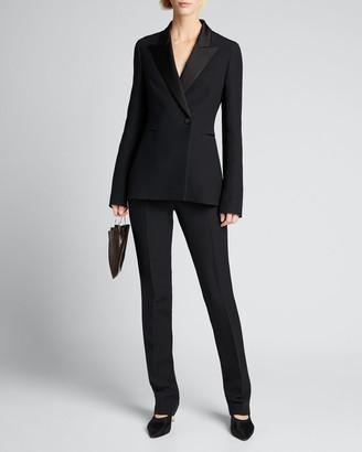 The Row Ciel Wool-Silk Blazer Jacket
