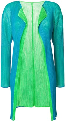 Issey Miyake Pre-Owned pleated mesh cardigan