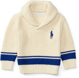 Ralph Lauren Cotton Shawl Sweater