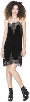 Alice + Olivia Charice Velvet Short A Line Slip Dress