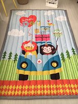 """FenDie Portable Padded Baby Crawling Mat Carpet Non-slip Soft Animal Patterns Floor Activity Mats 55""""x79""""(140x200cm) Size For Kids Outdoor Picnic Mats -Style3"""