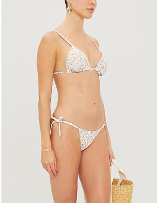 Peony Swimwear La Boheme floral-print stretch-recycled polyamide bikini top