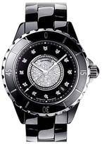 Chanel J12 H1757 Diamond Dial Black Ceramic Automatic 38mm Watch