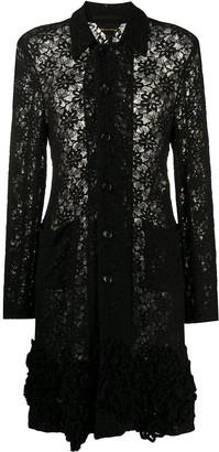 Lace Knee-Length Coat