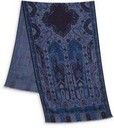 Etro Printed Wool & Silk Scarf