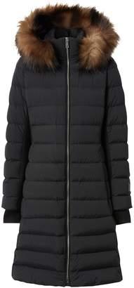 Burberry Detachable Faux Fur Trim Hood Coat