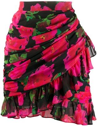 Richard Quinn Floral Mini Skirt