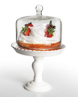 Bianca Pedestal Cake Plate with Glass Cover
