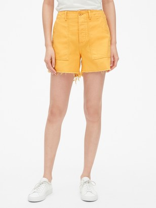 "Gap High Rise 4"" Utility Shorts"